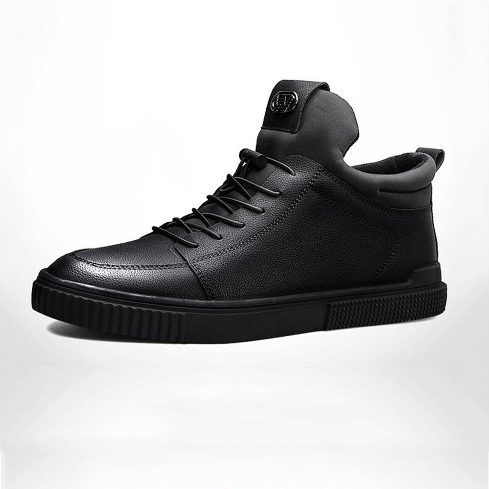 Unbekannt YIXINY Schuhe Turnschuhe Freizeit Plattenschuhe Koreanischer Winter Trendige Schuhe Rot Schwarz PU (Farbe   1, größe   EU43 UK9 CN44)