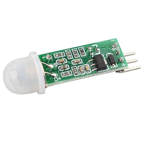haljia HC-SR505 Mini por infrarrojos PIR Motion Sensor módulo de Detector de infrarrojos de precisión: Amazon.es: Electrónica
