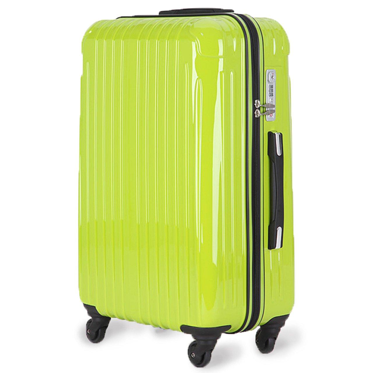 strike[ストライク]超軽量 2年保証 スーツケース TSAロック搭載 旅行バック トランクケース 旅行カバン B072F2GTJP 中型Mサイズ(4-7泊)|アップルグリーン アップルグリーン 中型Mサイズ(4-7泊)