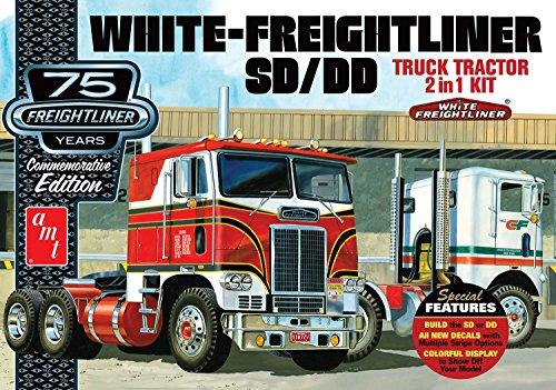 Freightliner Other Freightliner Models (AMT AMT1046/12 1/25 White Freightliner 2-in-1 SC/DD Cabover)