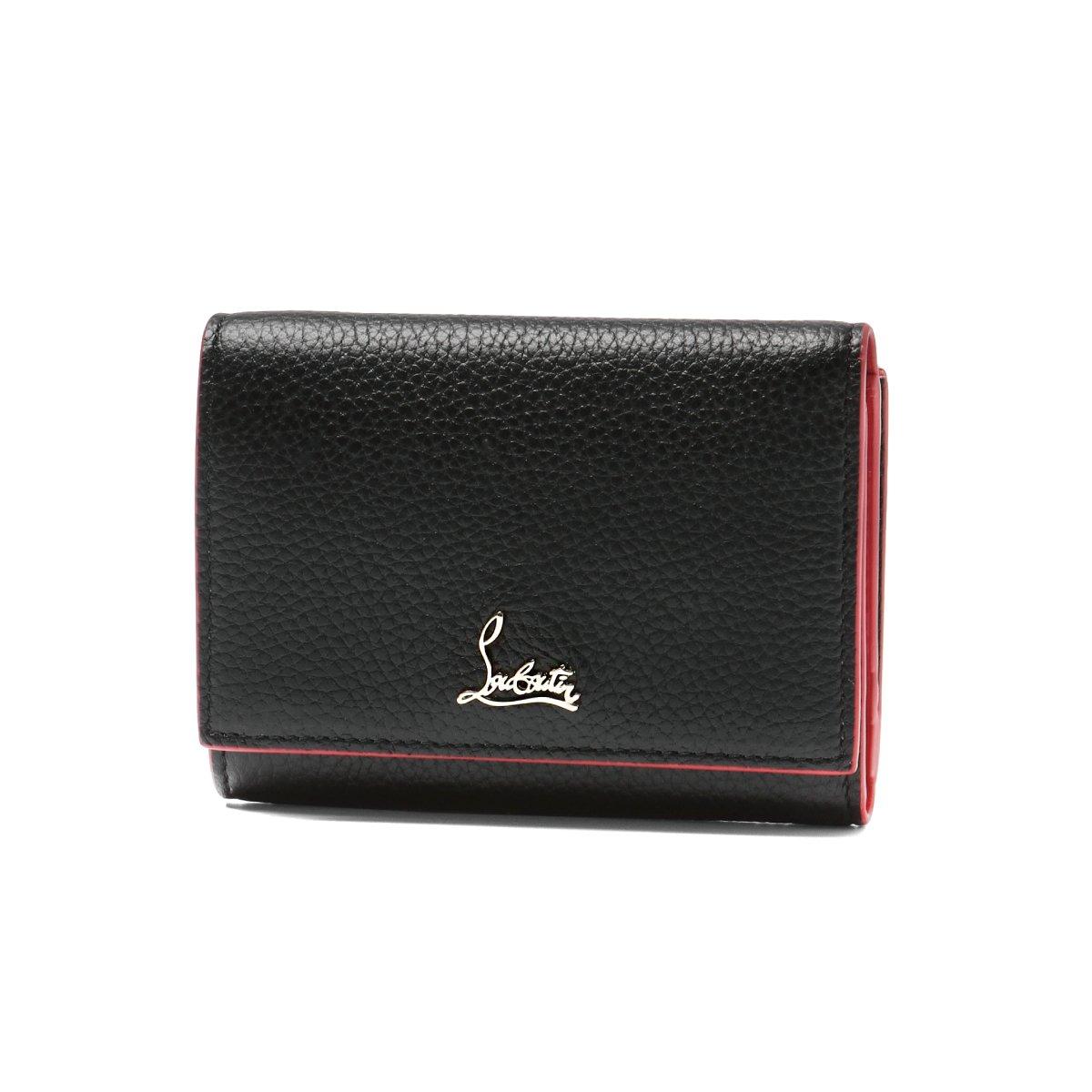 (クリスチャン ルブタン) Christian Louboutin 三つ折り財布 ミニ BOUDOIR ブラック 1185120 CM6S [並行輸入品] B07B4QGC52