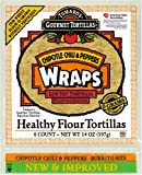 Tumaro's 10-Inch Wraps, Chipotle Chili & Peppers, 14-Ounce Packages (Pack of 6)
