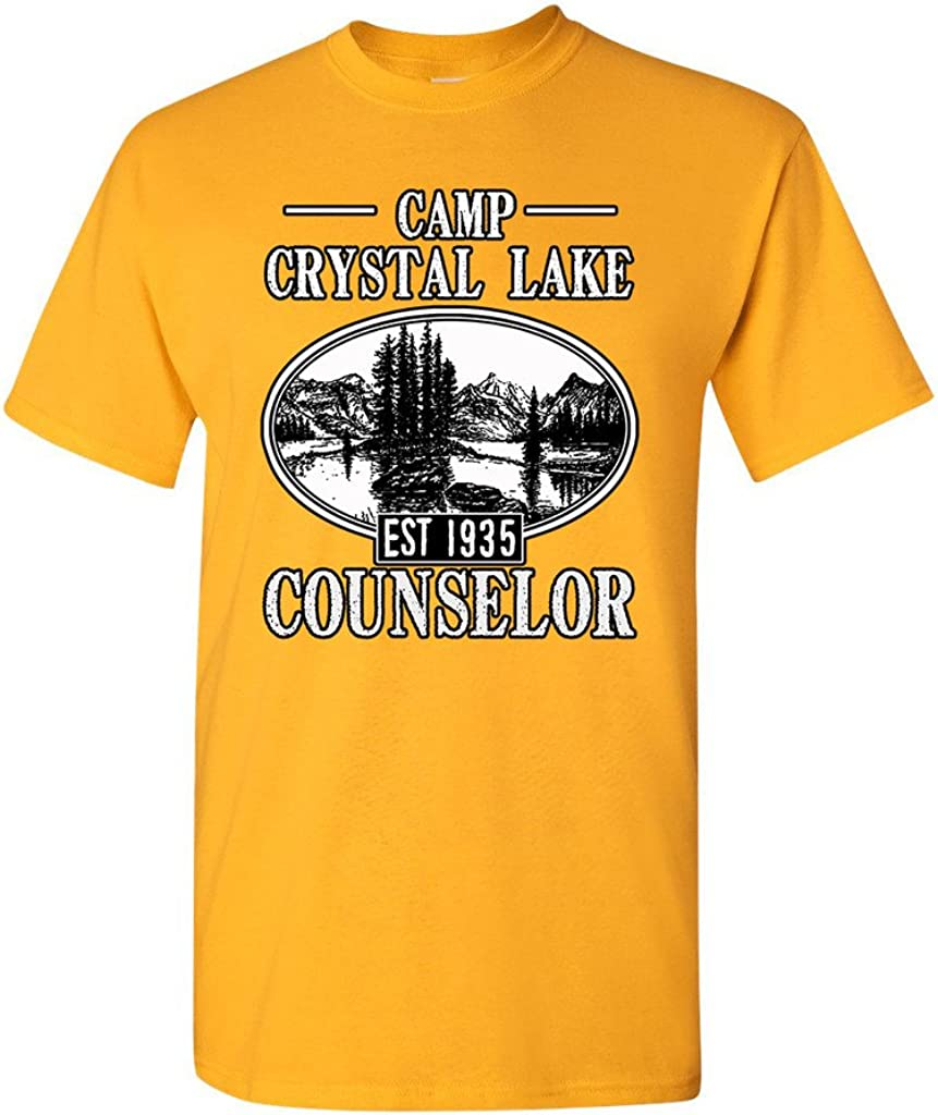 Camp Crystal Lake Counselor 1935 Summer TV Parody Funny DT Adult T-Shirt Tee