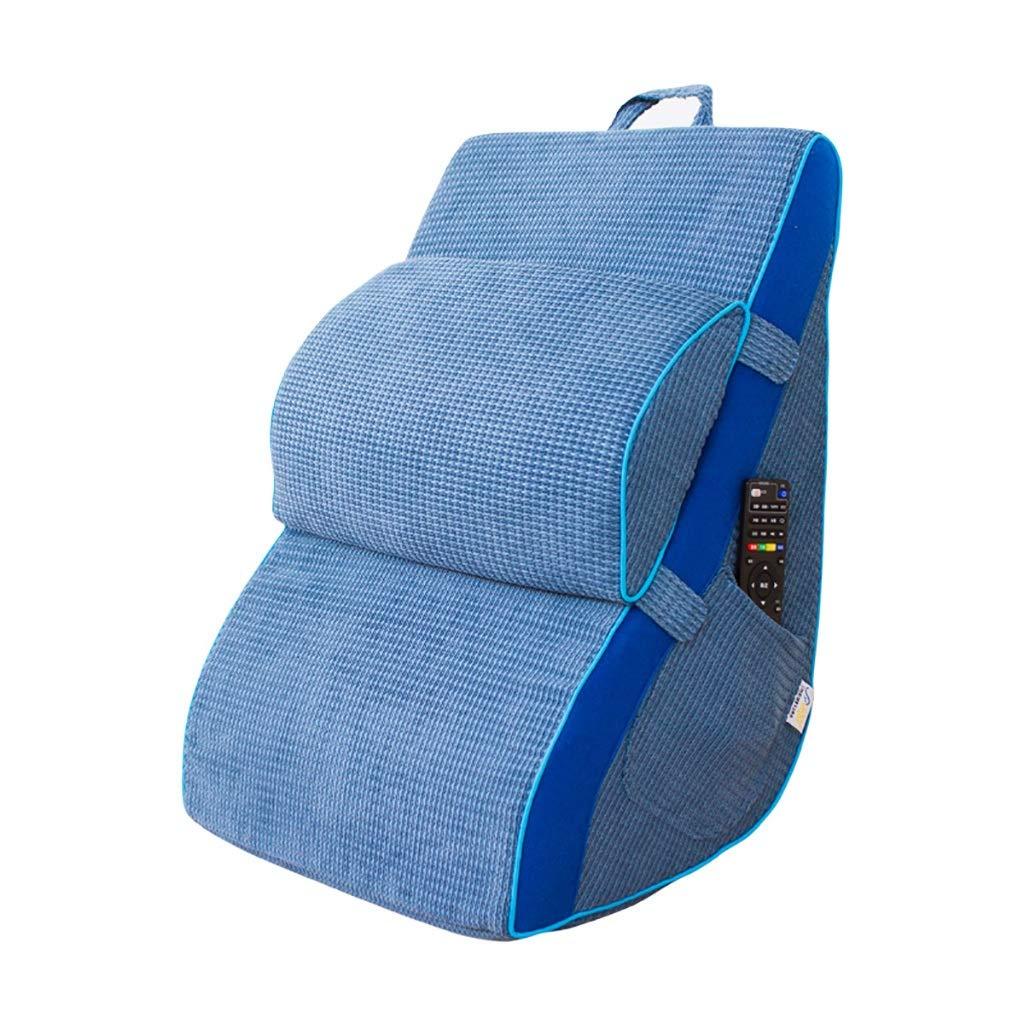 ベッド枕 ウエストクッション背もたれ三角ソフトバッグソファ畳デザイナー背もたれ背もたれ化学繊維素材メモリーコットンコアカーブデザインサイズ:45 * 38 * 25 cm 写真ベッド枕首まくら B07RYJKBBX