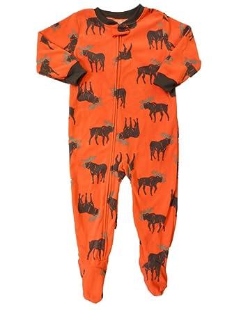 b26dda36f Amazon.com  Carter s Infant   Toddler Boys Orange Fleece Moose ...