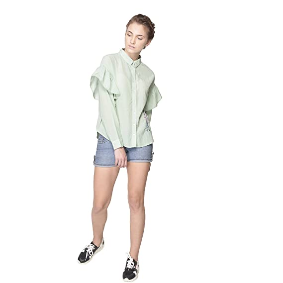 5c7b8c8f9e3 STFU Women's bamboo fabric Bluebell Relaxed Fit Green Top: Amazon.in:  Clothing & Accessories