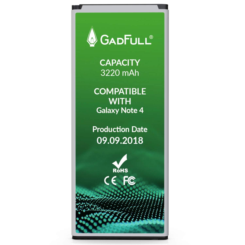 Bateria GadFull Compatible con Samsung Galaxy Note 4 | 2018 Production Date | Corresponds to The Original EB BN9