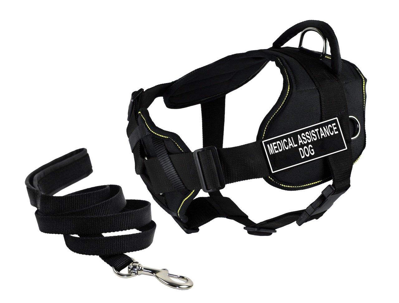 Dean & Tyler DT Fun Petto Supporto Assistenza Medica Dog Harness, Piccolo, con 1,8 m Padded Puppy guinzaglio.