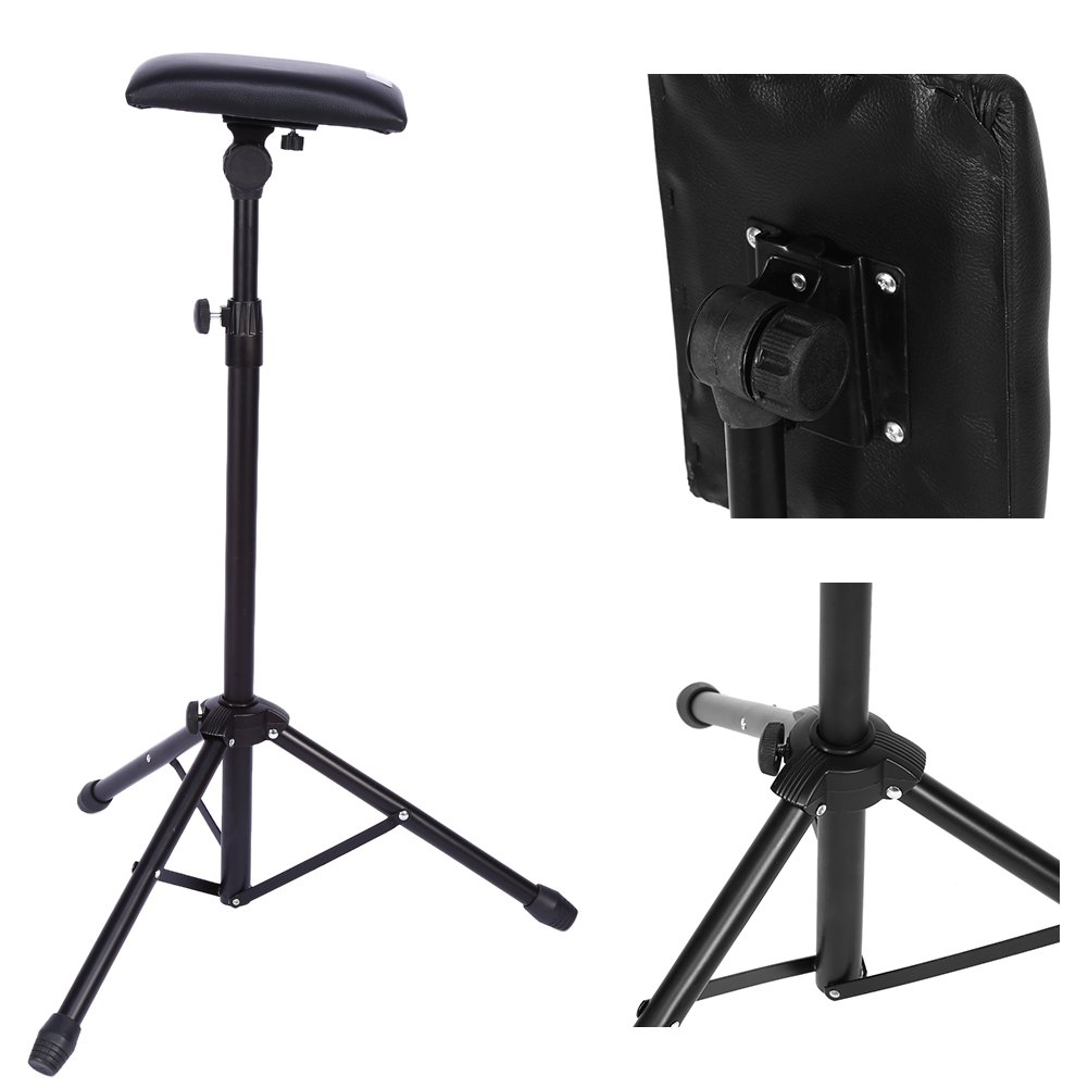 Armrest Tripod Stand Adjustable Tattoo Tripod Stand Arm Leg Rest Chair Sponge Arm Bar Rest Studio Chair Leg Rest GOTOTOP