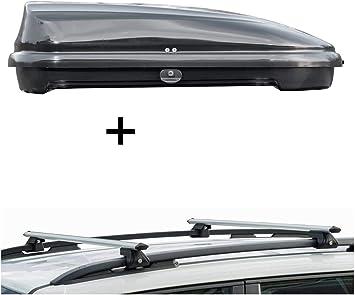 Dachbox Vdpfl320 320ltr Schwarz Glänzend Dachträger Crv120 Kompatibel Mit Dacia Sandero Stepway Ii 5 Türer Ab 2013 Auto