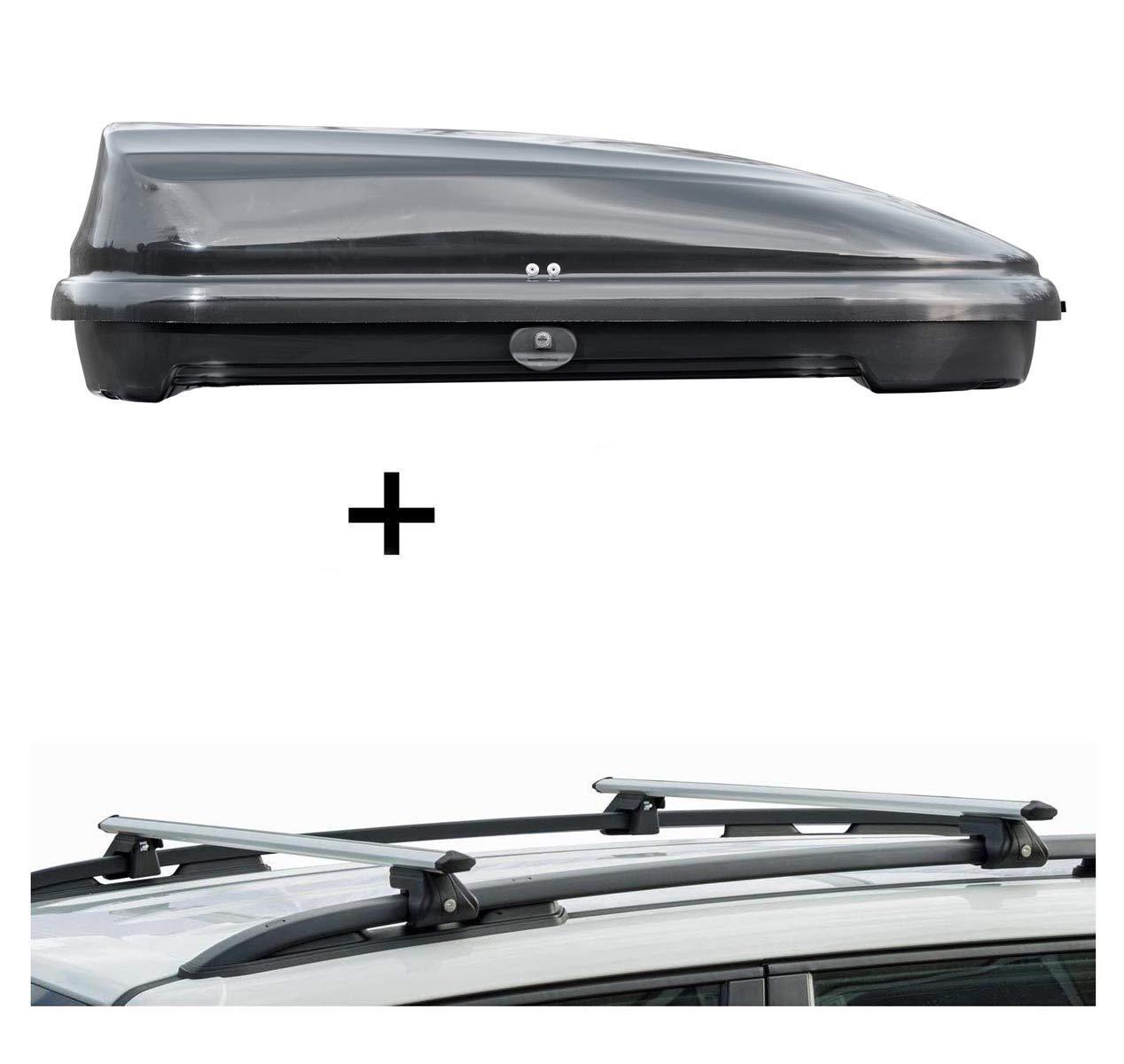 5 T/ürer ab 2013 Dachbox VDPFL320 320Ltr schwarz gl/änzend Dachtr/äger CRV120 kompatibel mit Dacia Sandero Stepway II