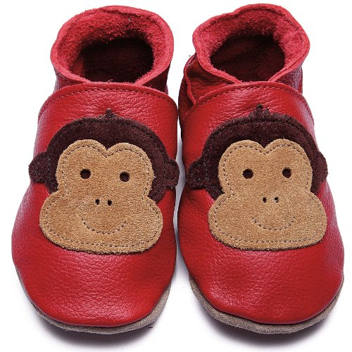 Inch Blue Krabbelschuhe Cheeky Monkey Red, Child Extra Large