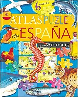 Atlas puzle de España y sus animales: Amazon.es: Susaeta, Equipo: Libros