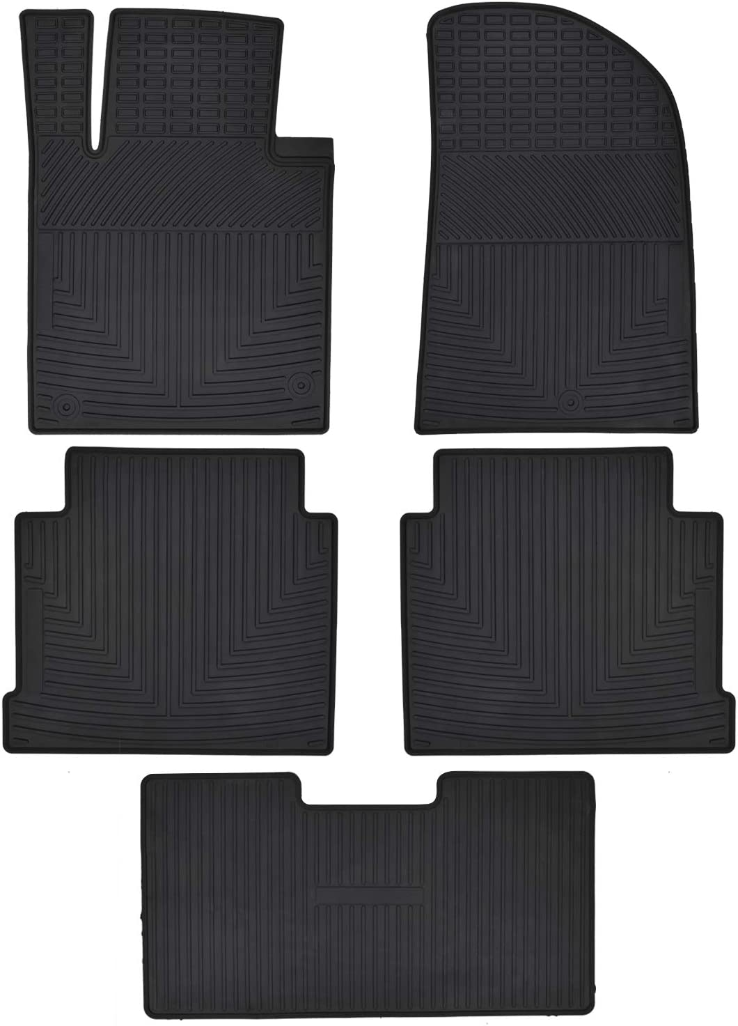 Megiteller Car Floor Mats Custom Fit for Hyundai Sonata 2015 2016 2017 2018 2019//2016-2020 Kia Optima Odorless Washable Heavy Duty Rubber Floor Liners Front and Rear Row Set Black All Weather