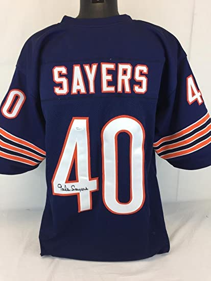 4b9d07649c5 Image Unavailable. Image not available for. Color: Gale Sayers Signed  Jersey Jsa ...