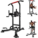 Power Tower Pull Up Dip Station Home Workout Equipment Multi-Function Stable Exercise Fitness Strength Training Equipment