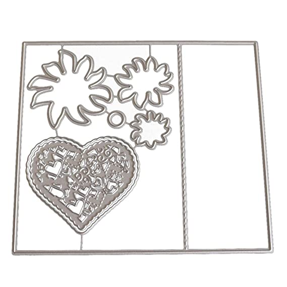 JiaMeng Troqueles Scrapbooking Troqueles para Corazón de la Flor Plantillas de Troqueles de Corte de Metal DIY Scrapbooking Album Paper Card (P): Amazon.es: ...