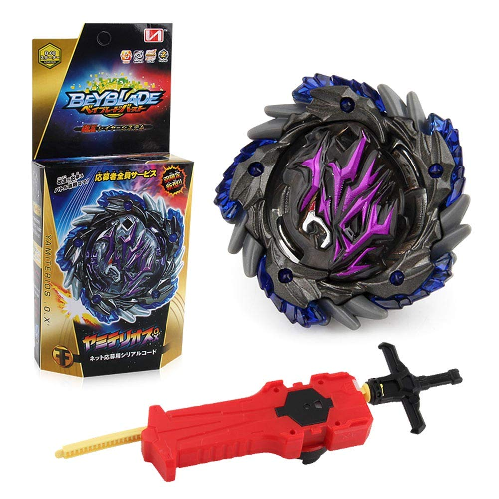 Lavendei Bey Burst Blade Evolution Toy Arena with Launcher Bey Battling Tops Blade Metal Fusion Spinning Top Toy Best Gift for Kids and Children Style 01