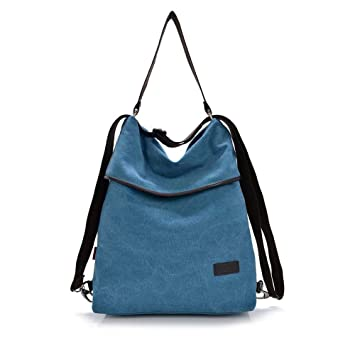 HongyuTing Vintage Canvas Women Shoulder Bag Retro Backpack Daypack  Multifunctional Bag for Work, School and Casual Daily  Amazon.co.uk  Luggage a109635d6f