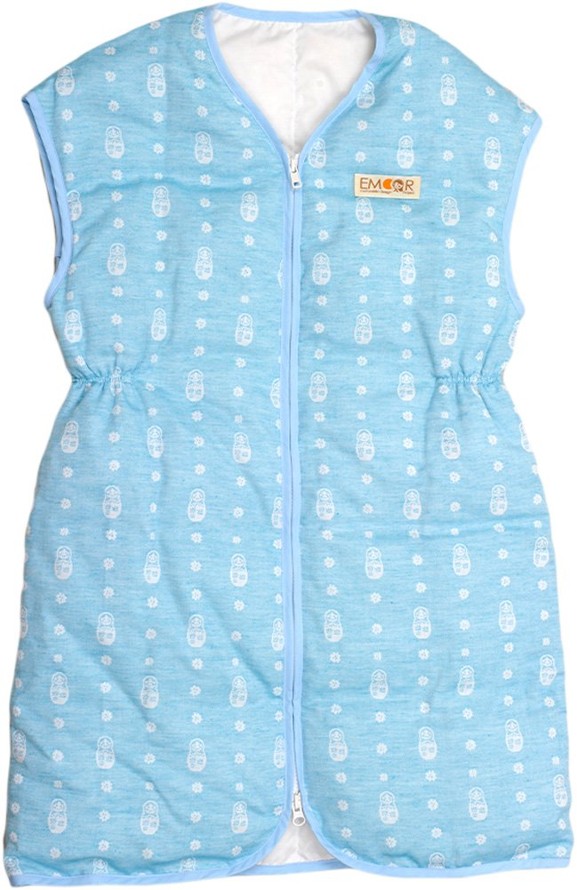 Emoor Matryoshka Down Vest For Baby. Assembled in Japan(Blue)