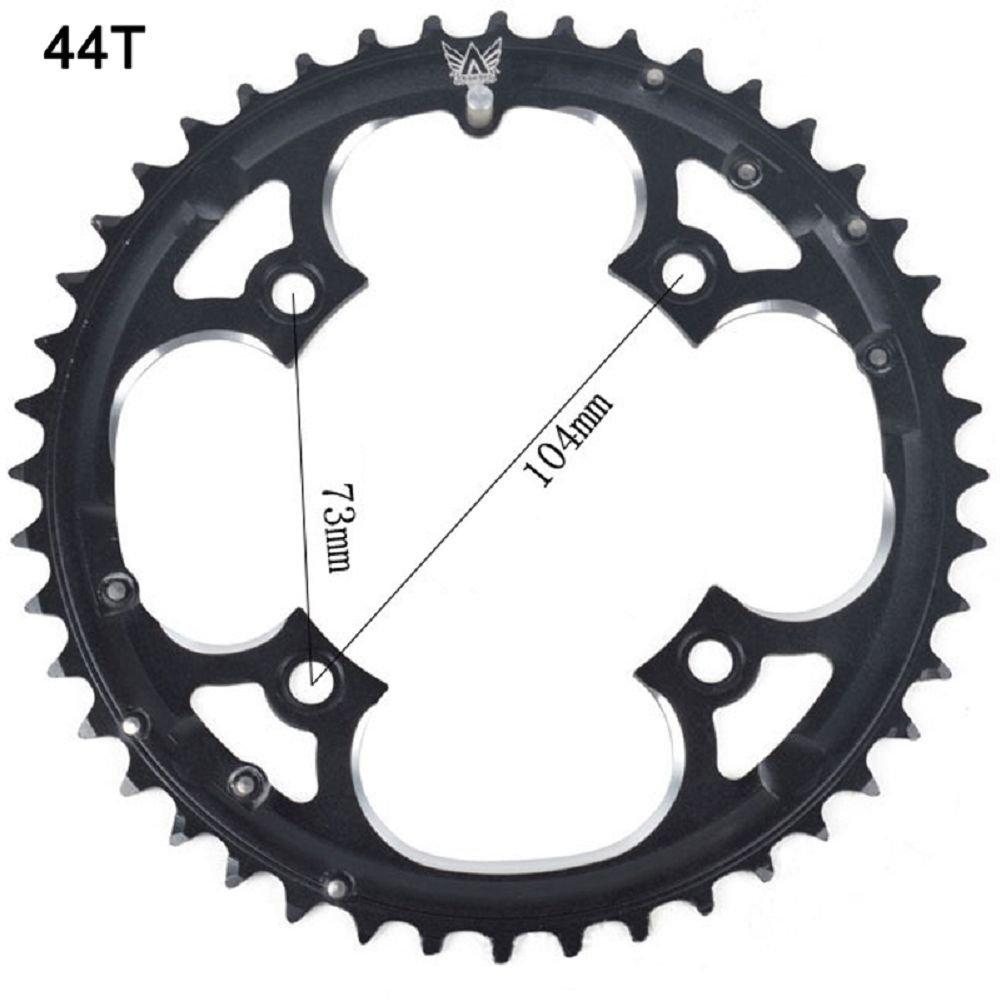 grofitness BCD 104rueda de cadena para bicicleta aleación de aluminio 44dientes., negro