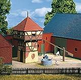 Auhagen - 11410 - Modélisme Ferroviaire - Bâtiment - Pigeonnier Avec La Fontaine