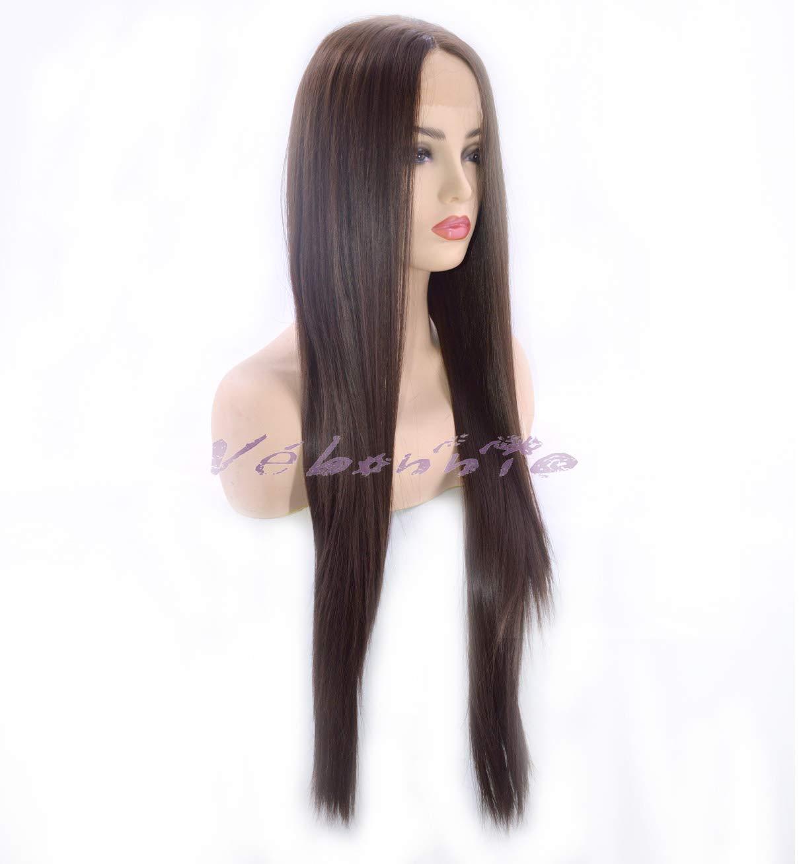 Vébonnie - Peluca con malla frontal natural negra con aspecto realista para  mujer 7860f95bddf2