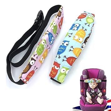 Kopfstütze Kindersitz Kopf Halter Autositz Befestigung Gurtschutz Kinder Auto Kopfhalterung Hilfe Schlaf Baby Kopf Halten Kopfstützhalter 2 Stk Baby