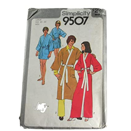 Amazon Simplicity 40 Sewing Pattern Men Or Misses Kimono Robe Custom Kimono Robe Sewing Pattern