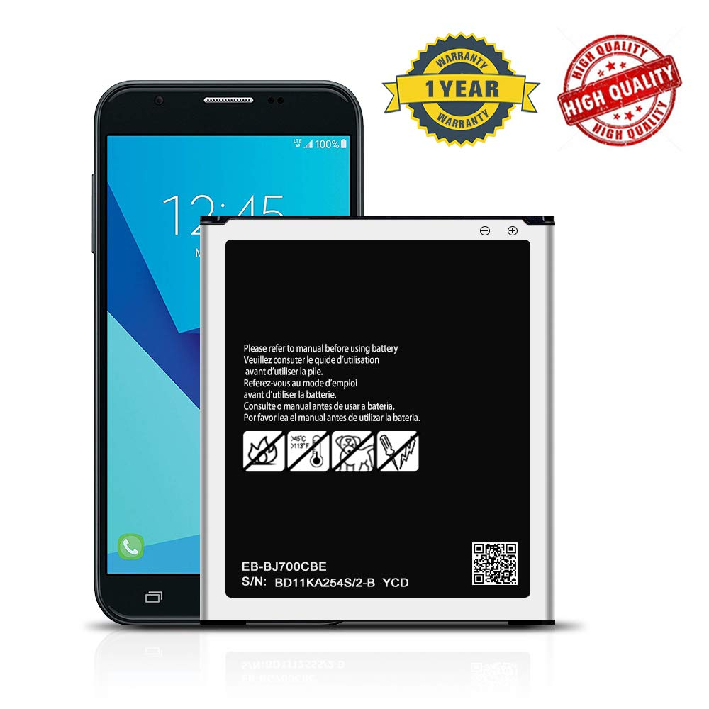 Galaxy J7 Battery, 3000mAh Replacment Battery for Samsung Galaxy J700P(Boost/Virgin Mobile), J700M(Net10), J700F, J700T(T-Mobile), J700M/DS Battery EB-BJ700CBE by DDONG