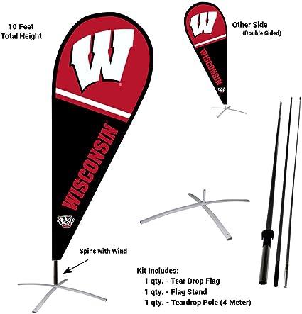 UW Badger Banner Flag Wisconsin Double Sided
