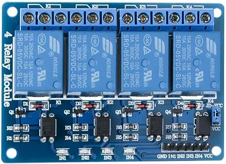mit Optokoppler 4-Kanal-Relaismodul für Arduino PIC ARM AVR DSP DC 5V Zubehör