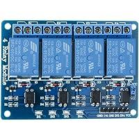Elegoo 4 Kanal DC 5V Relaismodul mit Optokoppler für Arduino UNO R3 MEGA 2560 1280 DSP ARM PIC AVR STM32 Raspberry Pi
