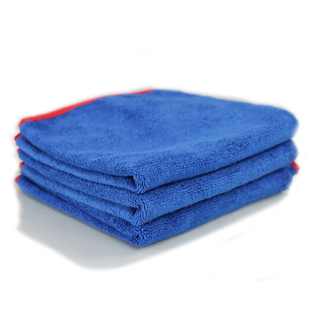 Chemical Guys MIC9976 Fluffer Miracle Supra Microfiber Towel, Red - 24 in. x 16 in. (Pack of 6) MIC_997_6