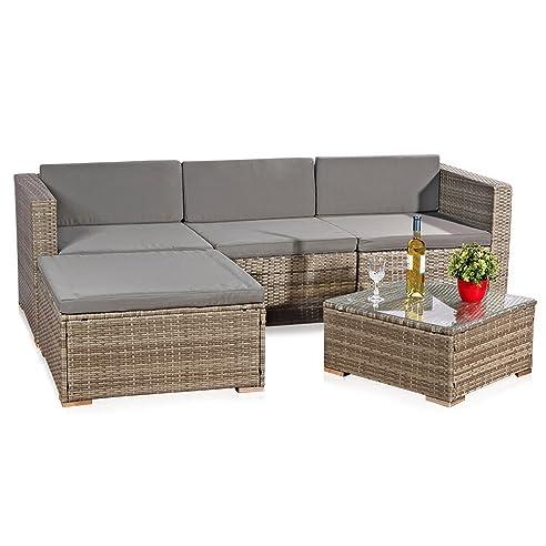 Rattanmbel grau loungemobel rattan grau lounge for Rattanmobel gartenmobel