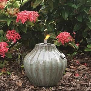 Smart Solar Prometheus Ceramic Fire Pot, 10-Inch H, Morning Dew 215081-10MD