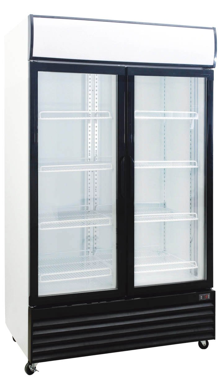 1000 Liter Display Beverage Cooler Merchandiser Refrigerator