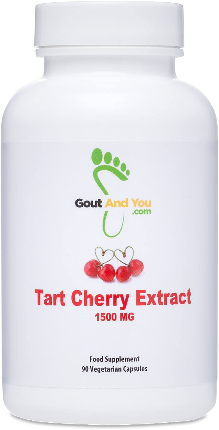 Extracto de cereza agria Gout and You - Altamente potente- 1500 mg - 90 Cápsulas