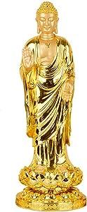 QSMYS 18 Inch Height Buddha Statue Sculpture Figurine Decorative Home Decor Accent