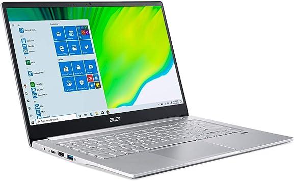 """Amazon.com: Acer Swift 3 Portátil delgado y ligero, IPS Full HD de 14"""", AMD Ryzen 5 4500U procesador Hexa-Core con gráficos Radeon Graphics, 8GB LPDDR4, 256GB NVMe SSD, WiFi 6, teclado retroiluminado,"""