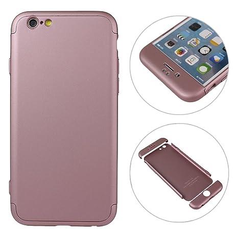 9dab8757a2d Asnlove Duro Cover per iPhone 6/6S, Integrale Protettiva Custodia Full Body  PC Plastica