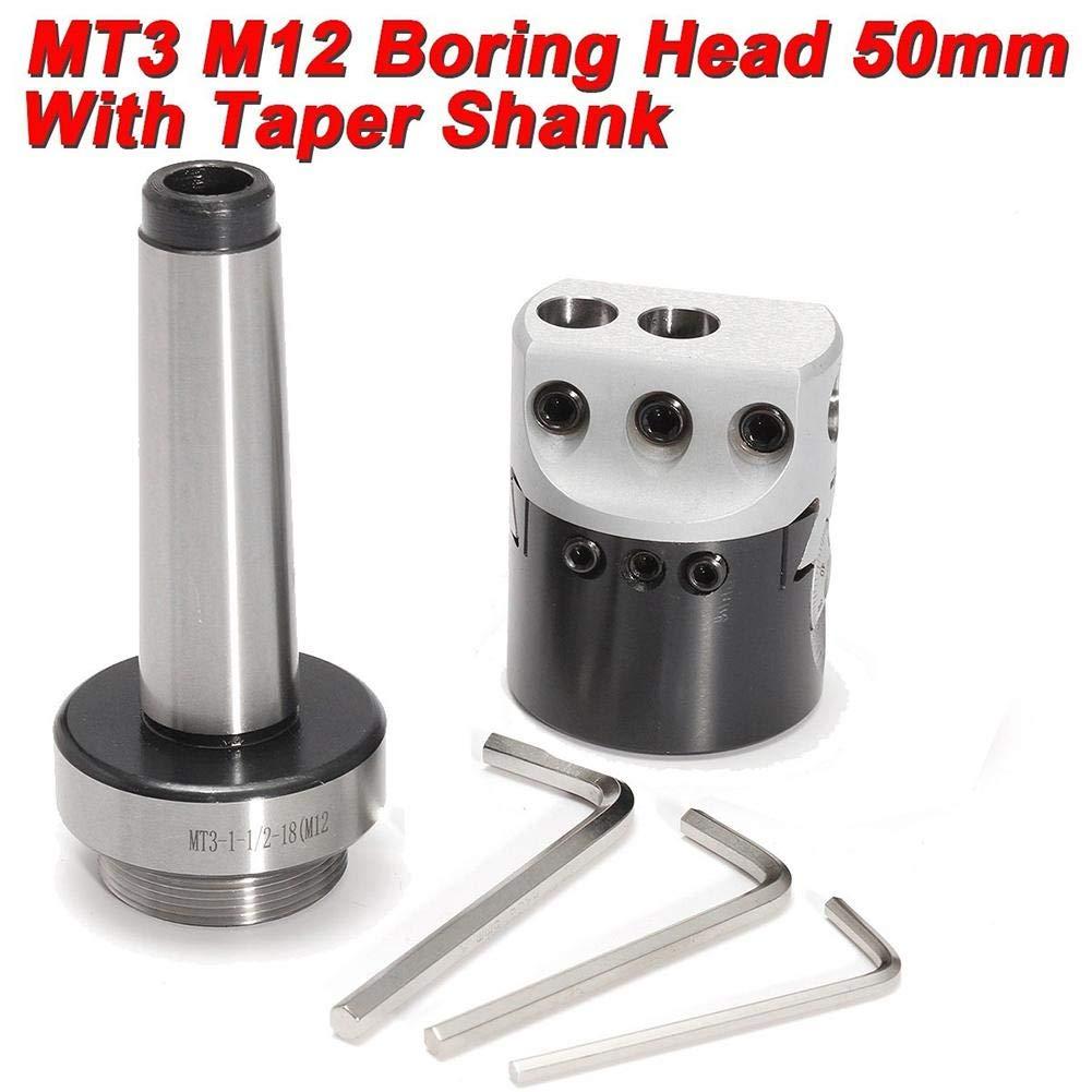 likeitwell MT3-M12 Cone Morse Mandrin /À Serrage 50mm Profondeur 150mm,3 T-Wrench Taper Shank Pr/écision 0.01mm pour Fraiseuse Al/éseuse