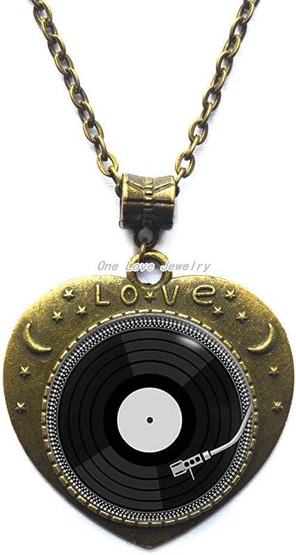 Ni36uo0qitian0ozaap Retro Music Necklace DJ Vinyl Necklace Vinyl Record Necklace Pendant Jewelry Gift,TAP086