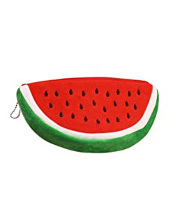 HYJM Creative Fruit Lovely Cartoon Watermelon Coin Bag Purse Wallet (L, Red )