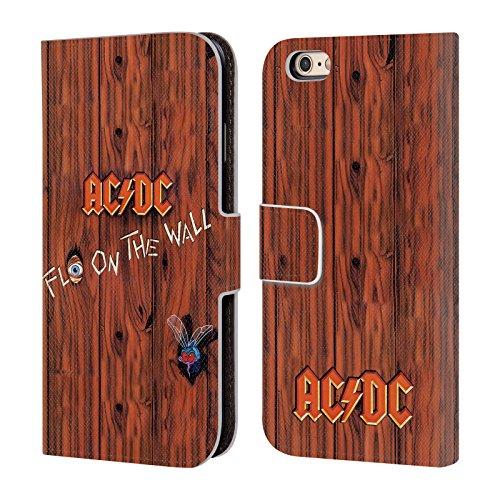 Officiel AC/DC ACDC Flo Sur Le Mur Couverture D'album Étui Coque De Livre En Cuir Pour Apple iPhone 6 / 6s
