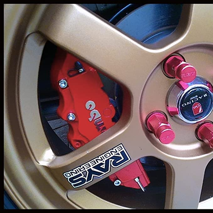 KKmoon 2pcs Pinza de freno Covers Kit de camión de plástico ABS 3d rojo útil Disco delanteros y traseros para coche Auto universal - Juego de modificación ...