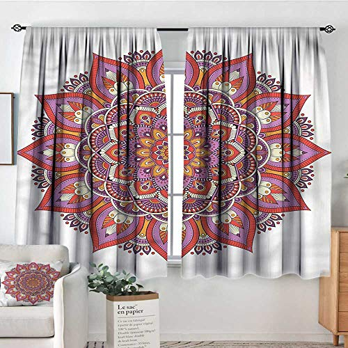 Sanring Mandala,Customized Chid Curtains Paisley Lotus Leaves Boho 104