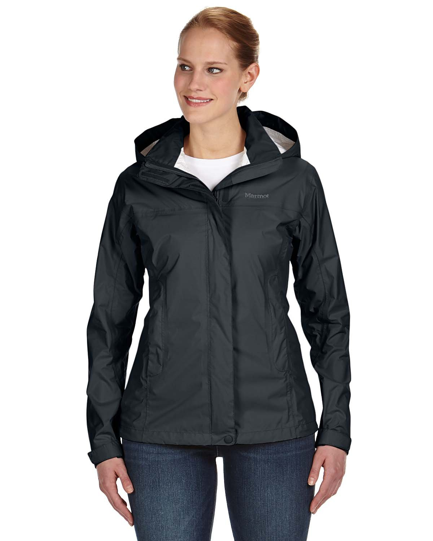 Black Marmot Women's PreCip Jacket  Waterproof,Seam Taped, Breathable, Lightweight