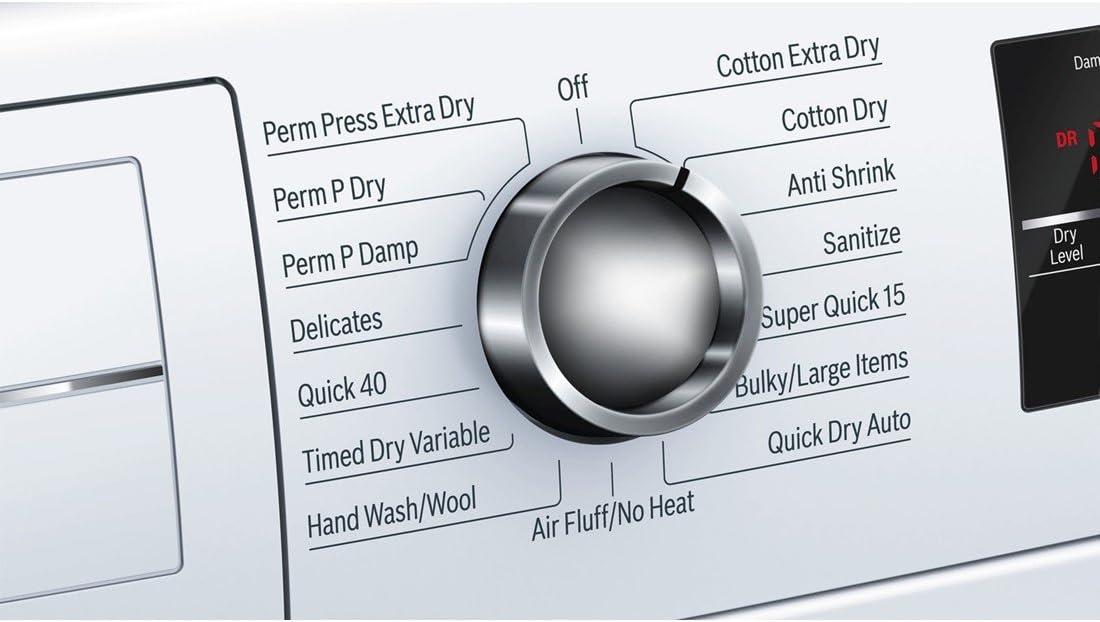 B00ZKWTRW0 Bosch WTG86402UC800 4.0 Cu. Ft. White Stackable Electric Dryer - Energy Star 71jjiW50TAL.SL1100_