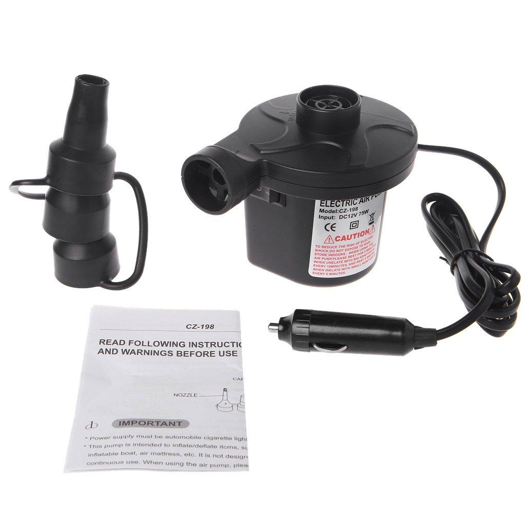 Cold Toy 12V Elektrische Luftpumpe Tragbare Luftmatratze Pumpe Inflator Deflator f/ür Schlauchboote